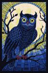 Paper Mosaic Owl