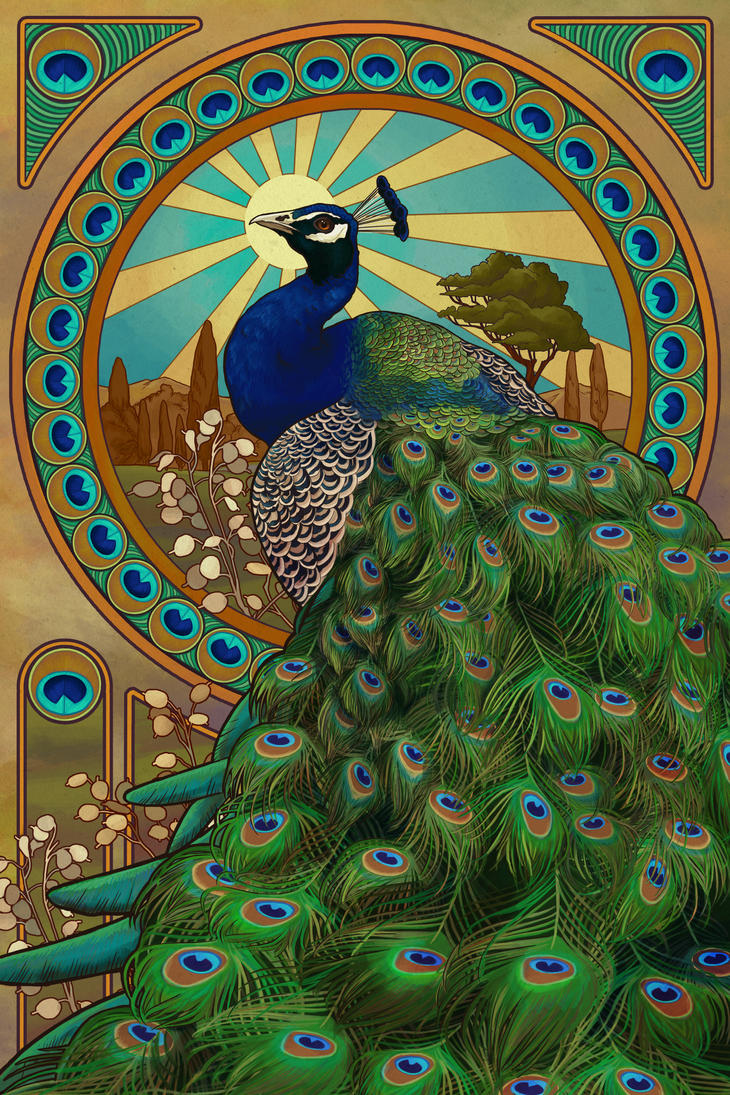 Art Deco Nouveau: Art Nouveau Peacock By AlixBranwyn On DeviantArt