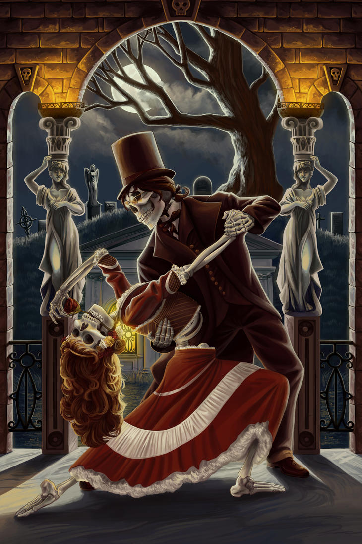 Dancing Skeletons by AlixBranwyn