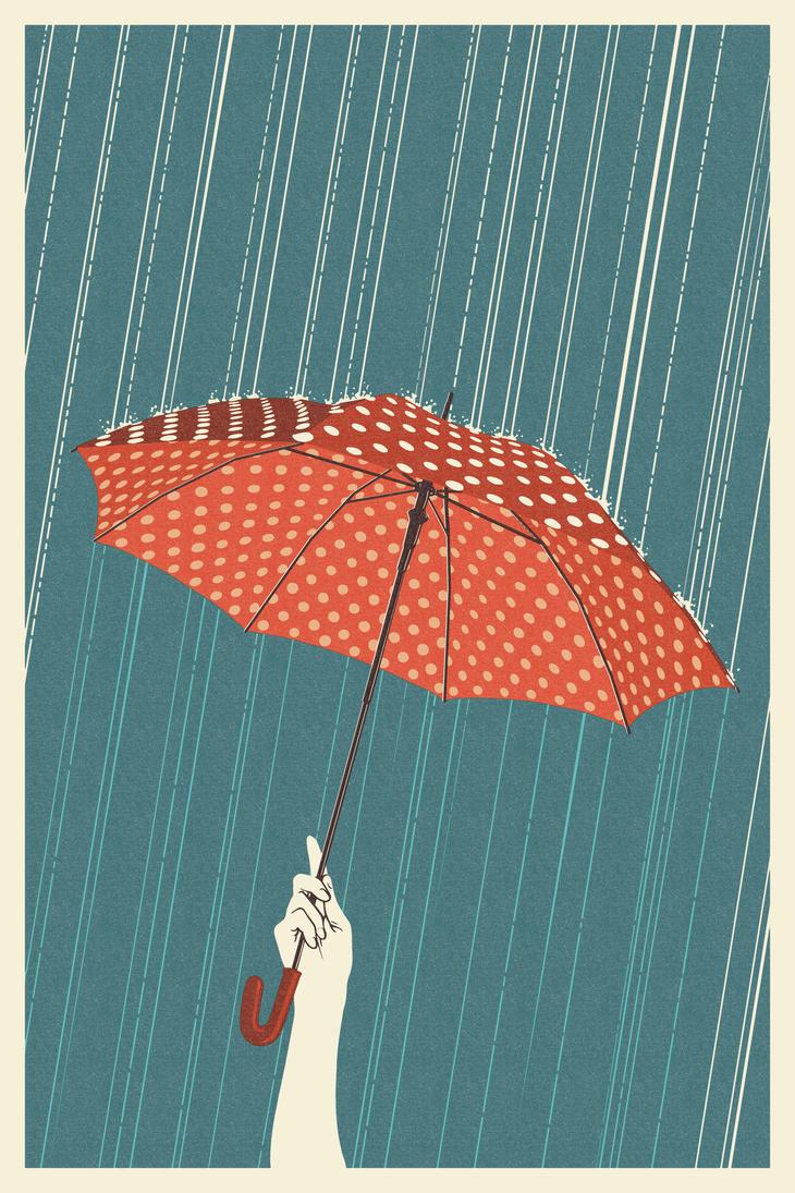 Umbrella Letterpress by Chronoperates
