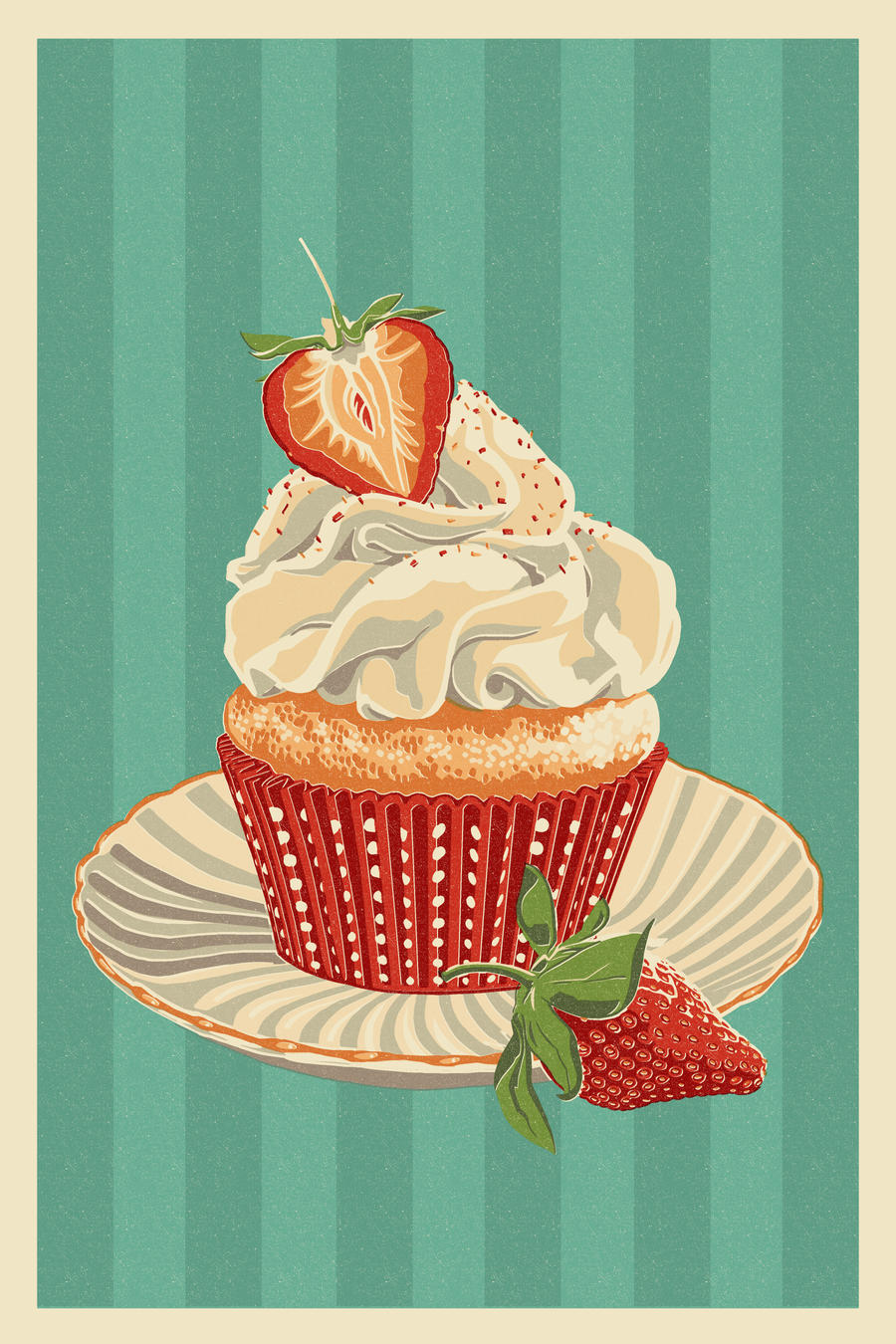 Cupcake Letterpress by Chronoperates