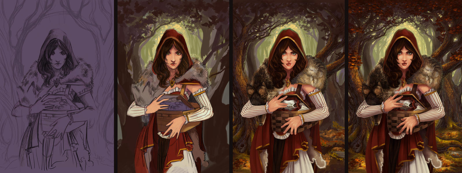 Red Riding Hood - Process by AlixBranwyn