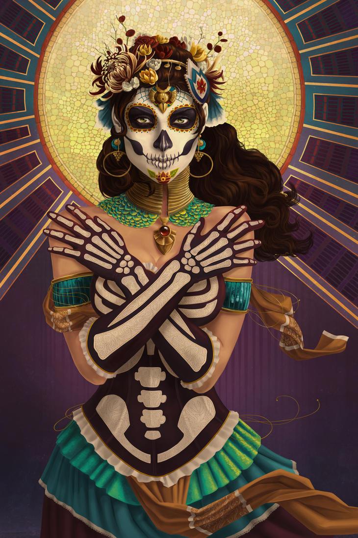 Dia de los Muertos - Crossbones by AlixBranwyn