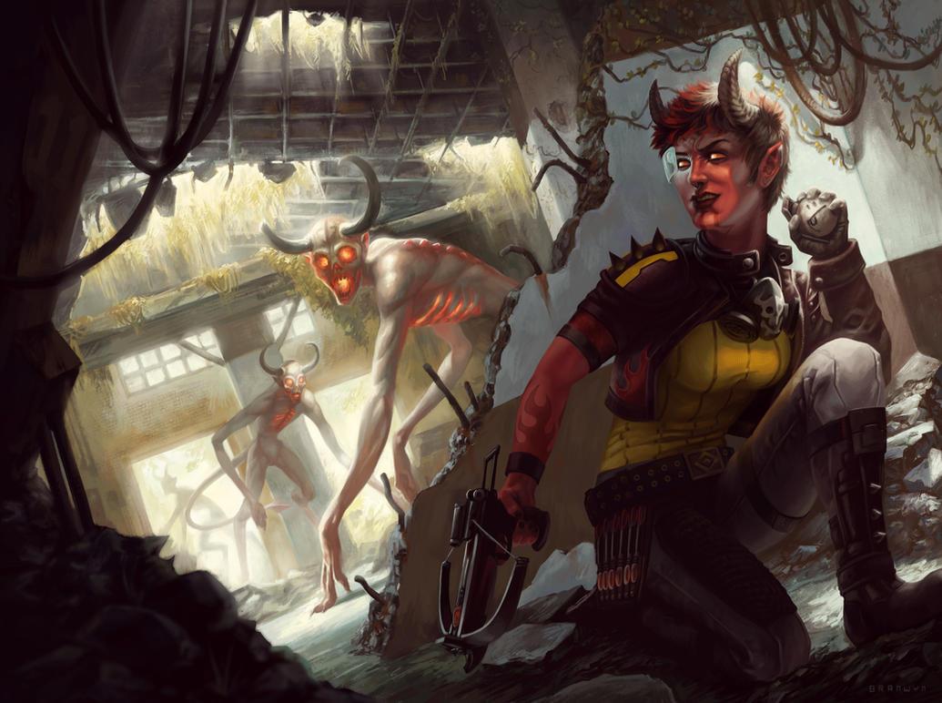 Ariss, Demon Hunter by AlixBranwyn