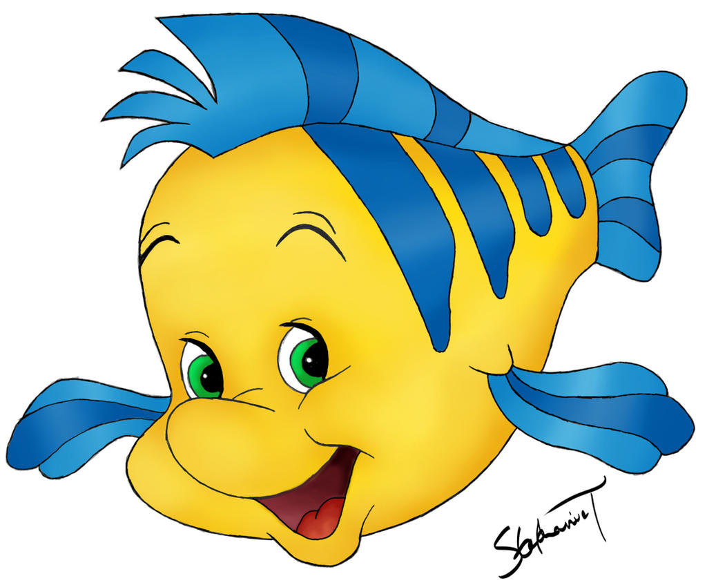 Little mermaid flounder clipart the for The little mermaid fish