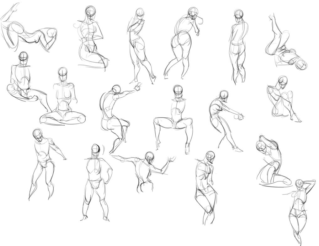 Quickposes 20 Minute Gesture Drawing by curray
