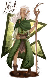 Aleah - Halfelf Druid second design