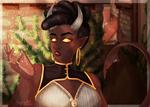 Tiefling sorceress by SafirasArt