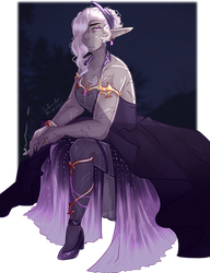 Shay in the dress thingy by SafirasArt