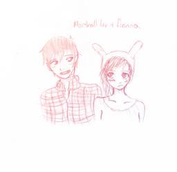 Marshall lee x Fionna by AngelDust203
