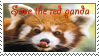 Save the red panda stamp by AriannaPeyton