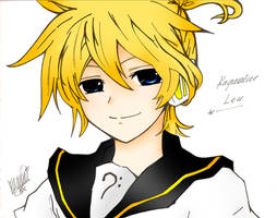 Kagamine Len Coloured by FienaMcKaren