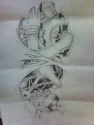 Bio tech Arm Tattoo by KillaDuckeh