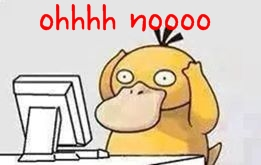 psyduck on computer
