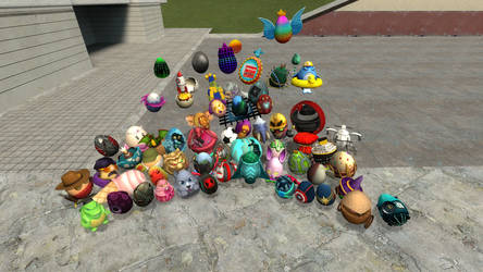 Egg Hunt 2019 Eggs by Pinkolol16