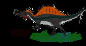 Birthday Spinosaurus by BrooksLeibee