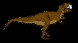Female Tyrannosaurus concept by BrooksLeibee
