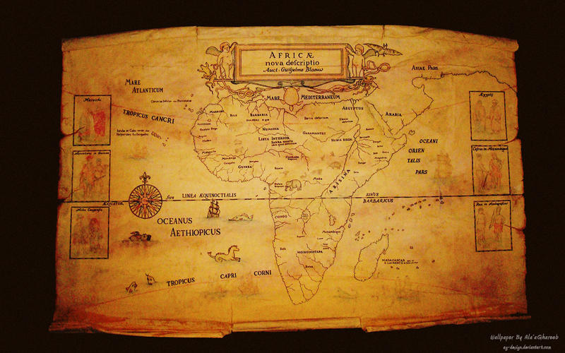 Africa map Wallpaper by agdesign on DeviantArt