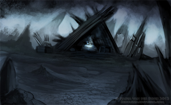 My Underworld - speedpaint by NadiavanderDonk