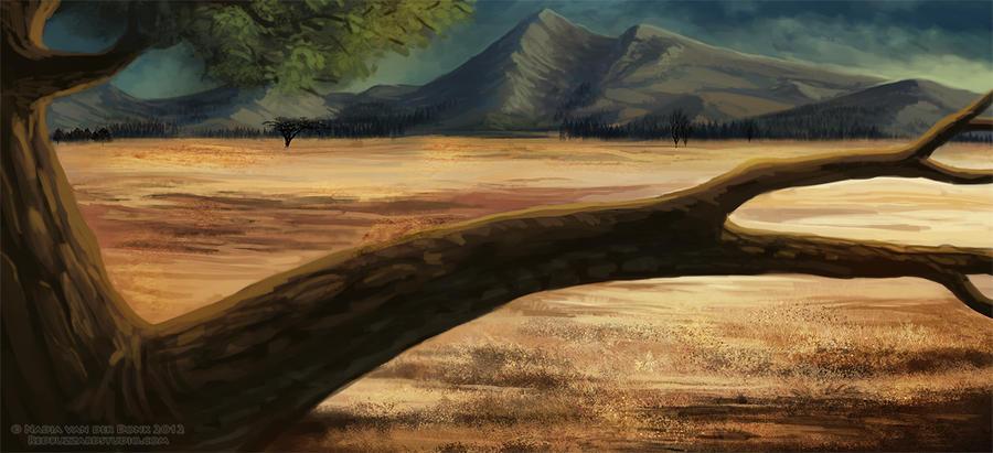 Golden Grass - Background by NadiavanderDonk