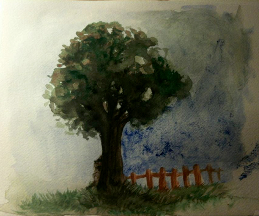 Watercolour Tree by NadiavanderDonk