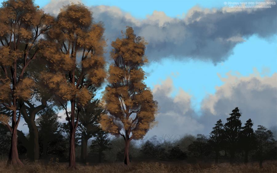 Trees by NadiavanderDonk