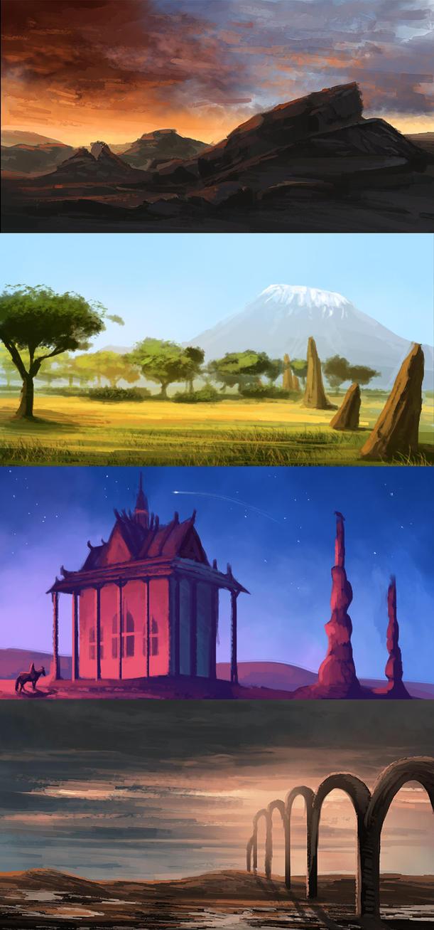 Landscape Studies by NadiavanderDonk