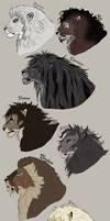 The gentlemen of the Achidar pride. by NadiavanderDonk