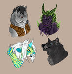 Colored headshot commissions 3