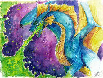 Watercolor - Becaria the Dragon