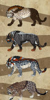 Fantasy Saber Cats 3 - SALE - 1 left!