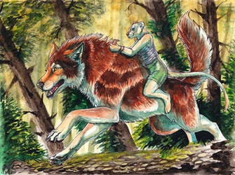 Watercolor - Forest Ride