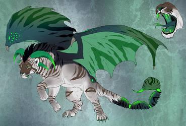 Manticore character design 2 - CLOSED! by NadiavanderDonk
