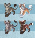 Feline cub designs - CLOSED-ALL-SOLD