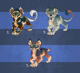 Feline cub designs 2 - 1 left by NadiavanderDonk