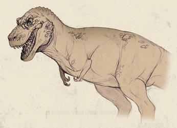 T-rex sketch by NadiavanderDonk