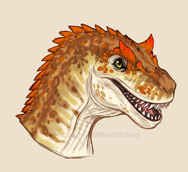 Friendly Allosaurus by NadiavanderDonk