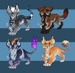 Feline cub designs 4 - SALE