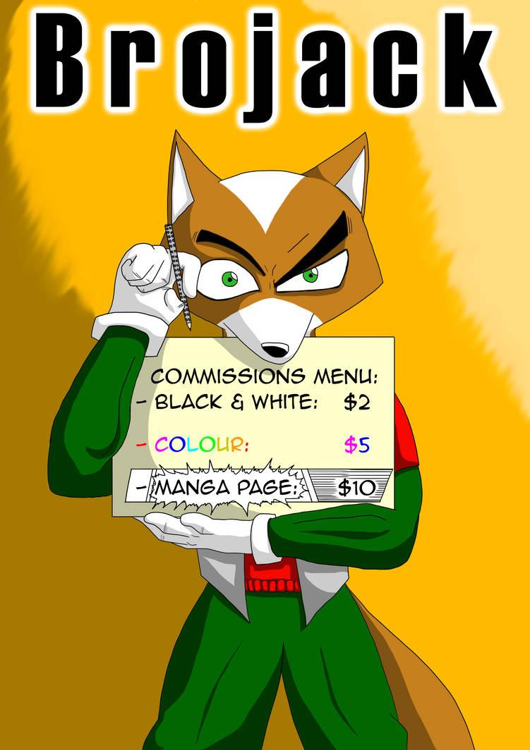 Brojack Commissions Menu by Brojacked