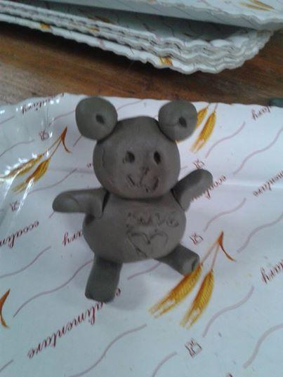 Little clay teddy bear by ItalianDream