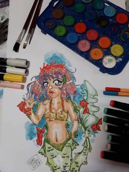 mermaid of goldfishes