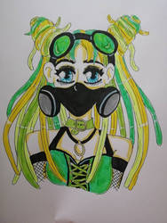cybergoth green girl