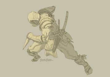 Mk11 - Scorpion (work in progress/scrap) by GorillaSketch