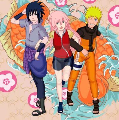 Sakura ,naruto y sasuke by Isylove