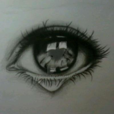 Dibujo de ojo llorando a lapiz by Isylove on DeviantArt