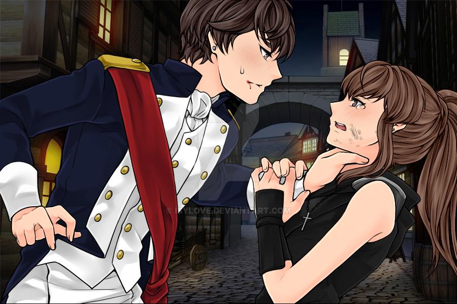 Alex cogiendo del cuello a Isabel by Isylove