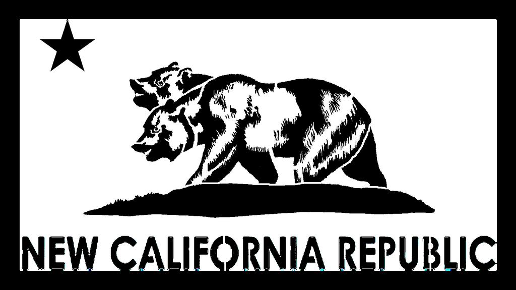 stencil of the new california republic flag by deathbysafety fan art ...