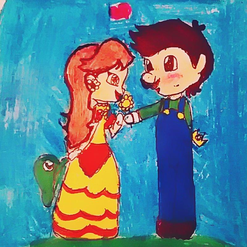 Daisy x Luigi by thedayofdaisy