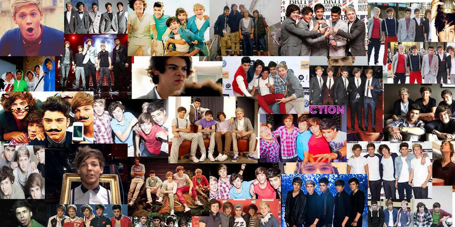 I love this edit!!!! | Papel de parede wallpaper, One ... |One Direction Collage Wallpaper