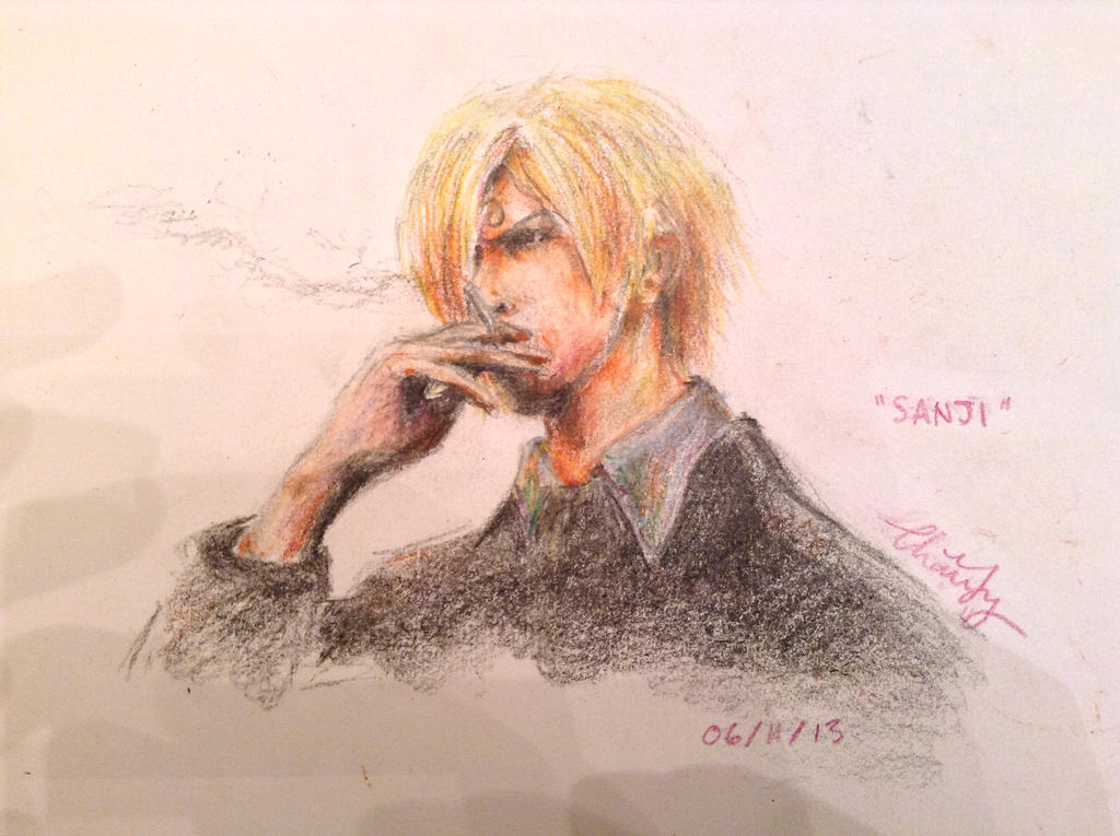 Pencil Crayon Sanji by MagicFlyingBunnies
